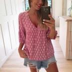 Blusa Estampada MAIRET Rosa