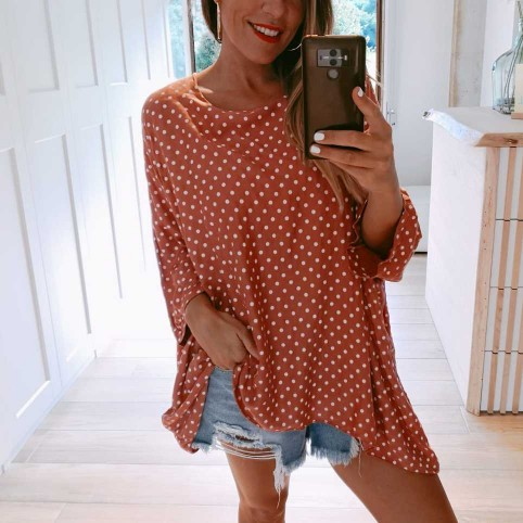 Blusa Oversize DOTS Coral