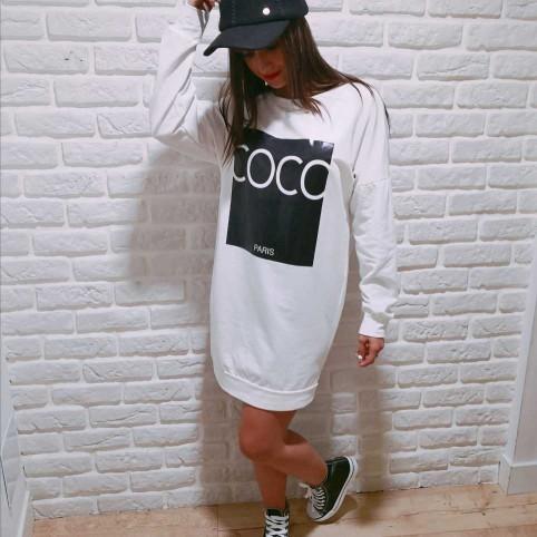 Vestido Sudadera COCO PARIS Blanco