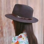 Sombrero Trilby Marrón