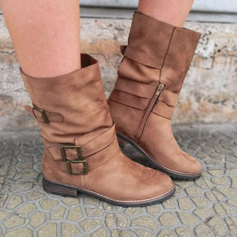 Bota Motera BROOKLYN Camel