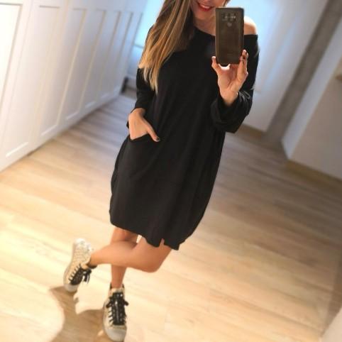 Vestido Abullonado ALMA Negro