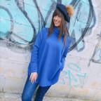 Jersey Evasé FLAVIA Azul Klein