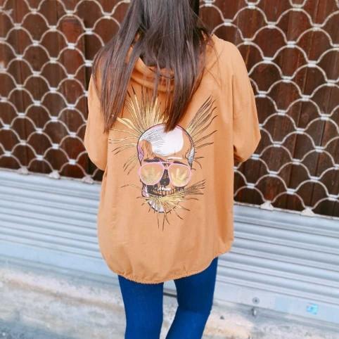 Sobrecamisa Capucha Calavera Camel