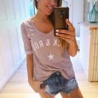 Camiseta Algodón ROCK´N ROLL Malva
