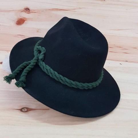 Sombrero Trilby Negro/Verde