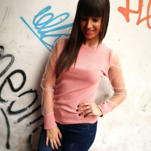 Suéter Combinado CIARA Rosa