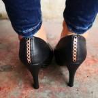Zapato Salón Cadena Negro