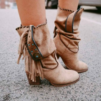 Bota Boho INDIA Taupe