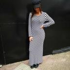 Vestido Punto Rayas Blanco/Negro