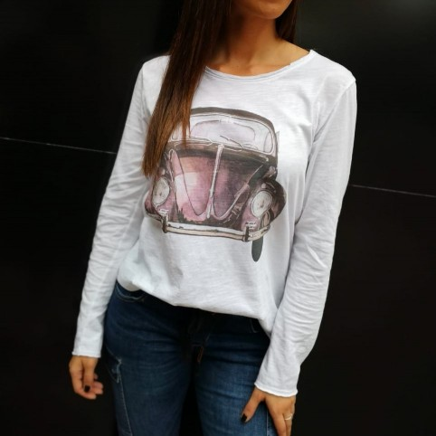 Camiseta Coche BEATLE Blanco