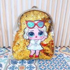 Mochila Glitter L.O.L. Dorado