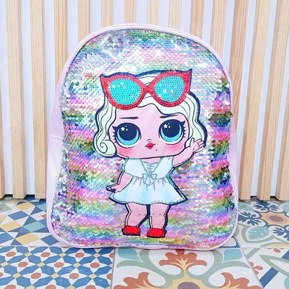 Mochila Glitter L.O.L. Rosa/Multicolor