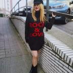 Vestido Punto ROCK & LOVE Negro