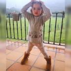 Conjunto Bebé Ardillas Gris