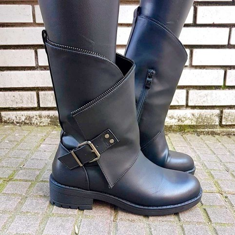 Bota Motera ZIPPER Negro