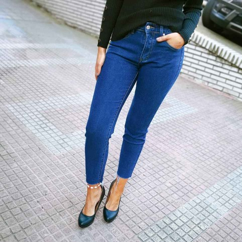 Pantalón Denim SASKIA Azul