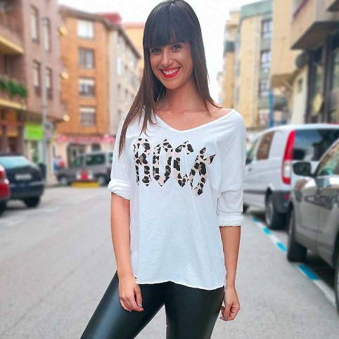 Camiseta ROCK PRINT Blanco