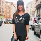 Camiseta ROCK PRINT Negro