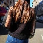 Suéter Punto y Plumeti Negro