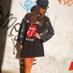 Vestido Lentejuelas ROLLING STONES Negro
