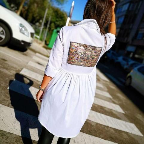 Camisa Asimétrica Fantasía Blanco
