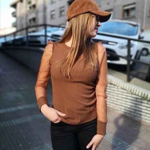 Suéter Combinado CIARA Marrón