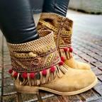 Botín Étnico MARRAKECH Camel