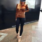 Suéter Abullonado CATALINA Marrón/Negro