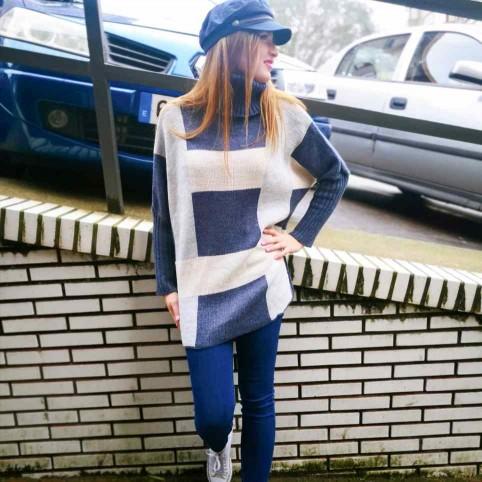 Jersey Oversize CUBIC Azul Jean