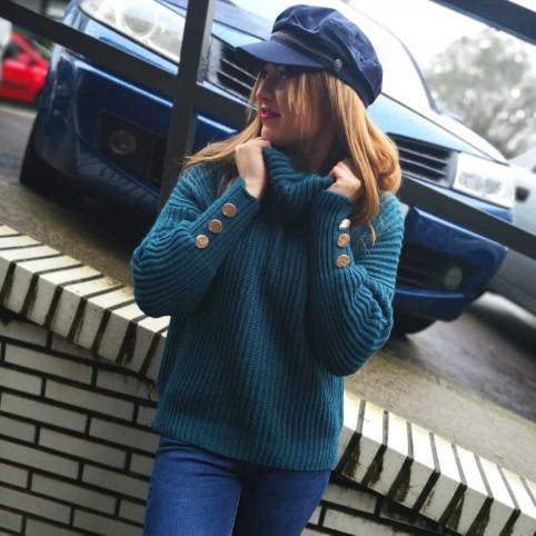 Jersey Punto JOELLE Azul Pato