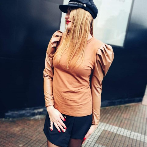 Suéter Combinado CATALEYA Camel