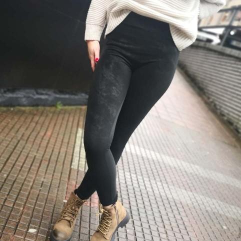 Legging Piel Melocotón Negro
