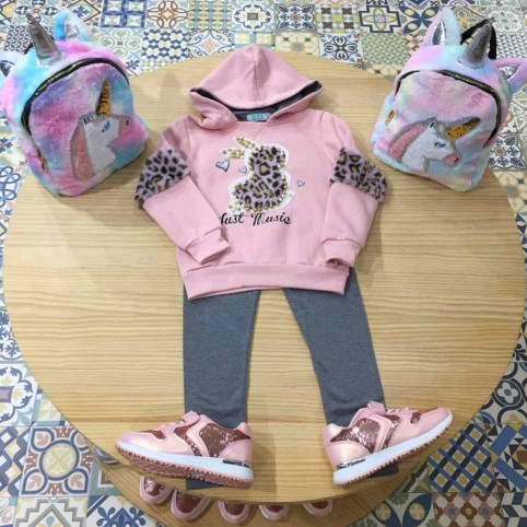 Conjunto Niña JUST MUSIC Rosa