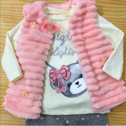 Conjunto Bebé Chaleco BRIGHT LIGHTS Rosa