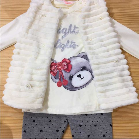 Conjunto Bebé Chaleco BRIGHT LIGHTS Blanco