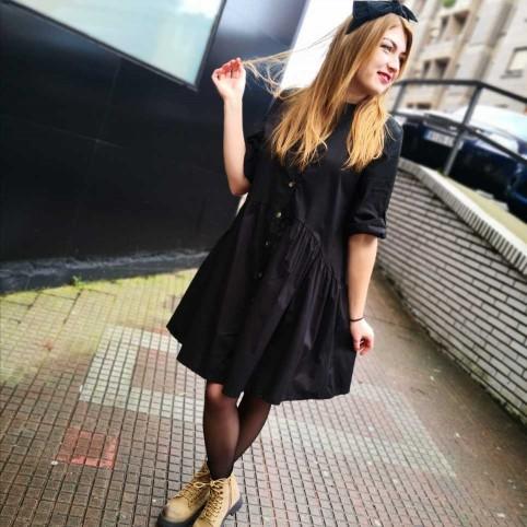 Vestido Camisero CLAIRE Negro