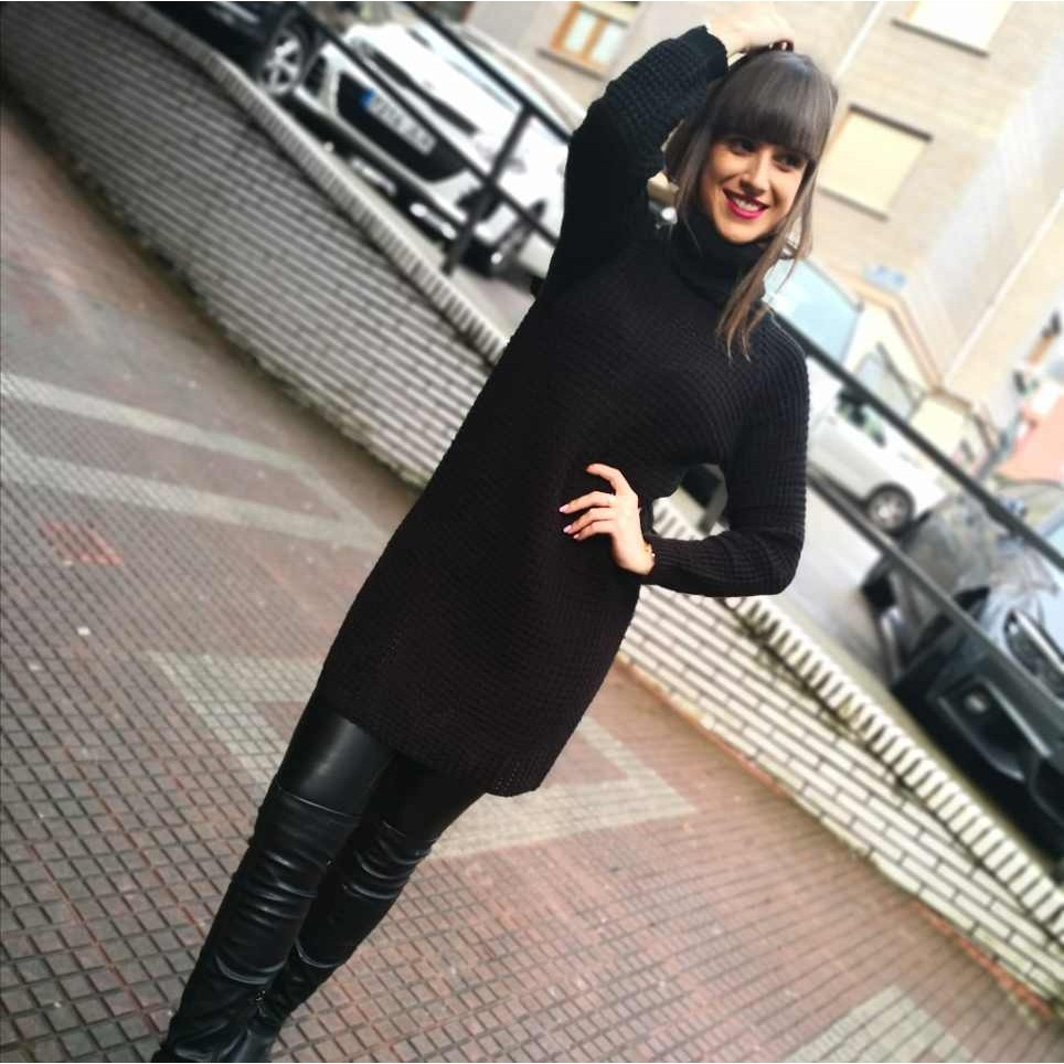 Jersey Extra Long ANNELIE Negro