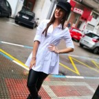 Camisa Blanca Larga Asimétrica