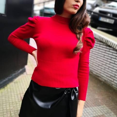 Jersey Abullonado AMELIE Rojo