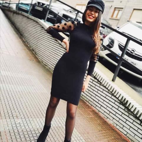 Vestido Abullonado SHIRIN Negro