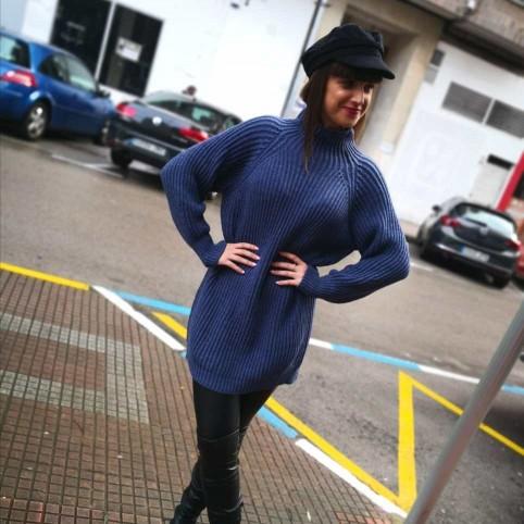 Jersey Extra Long BRANDIE Azul Jean
