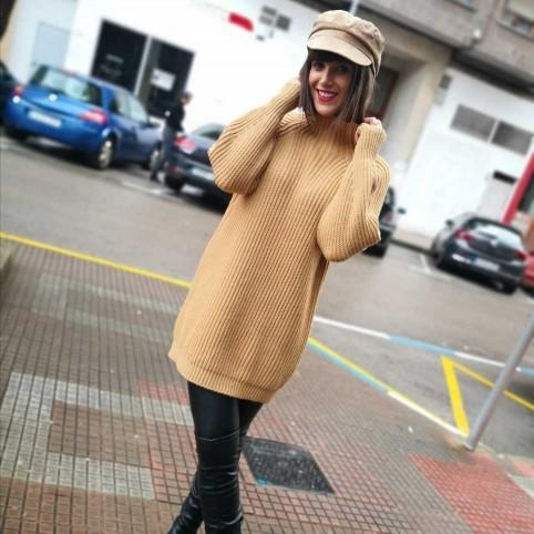 Jersey Extra Long BRANDIE Camel