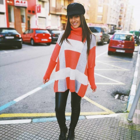 Jersey Oversize CUBIC Coral/Gris