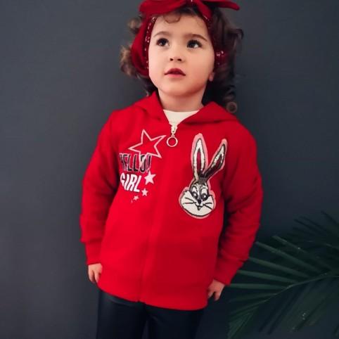 Sudadera Niña BUGS BUNNY Rojo