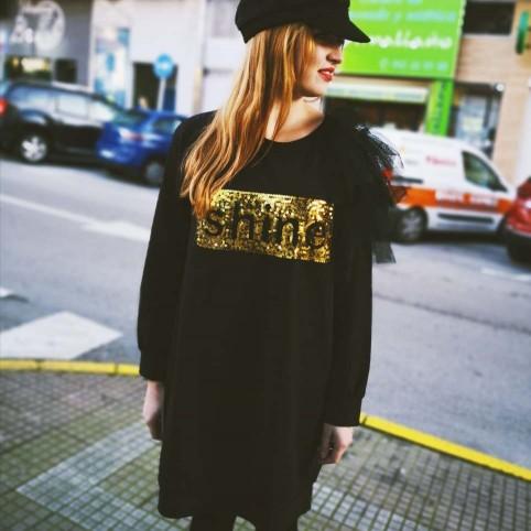 Vestido Lentejuelas Negro
