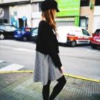 Vestido Combinado BROOKLYN Negro