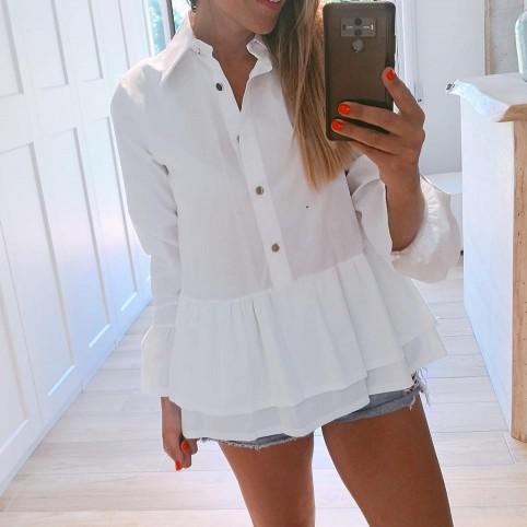 Camisa Volante GÉNOVA Blanco