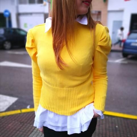 Jersey Abullonado AMELIE Amarillo