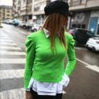 Jersey Abullonado AMELIE Verde Flúor